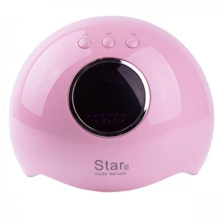 Лампа Sun LED/UV гибрид STAR 6 с дисплеем Pink 24 Вт