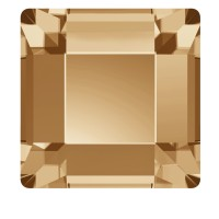 Стразы SWAROVSKI квадрат 10 шт Gold Shadow