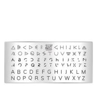 Пластина для стемпинга ТАКИ ДА мини (02 Letter)