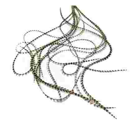 Перо для волос UrbanBird Standart (23-25 см) (Striped White-Black)