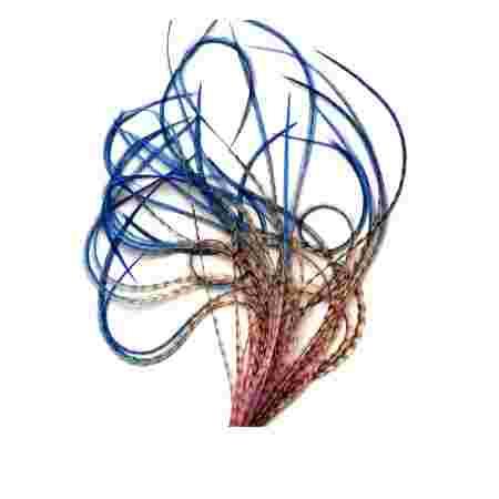 Перо для волос UrbanBird Premium (30-33 см) (Sunset Horizon)