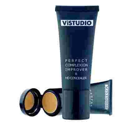 Тональная основа + консилер ViStudio Perfect complexion improver & HD concealer Light