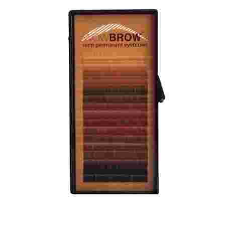 Волоски для бровей искусственные Vivienne Wowbrow 16 линий (0,07*6, прямые) Mix цветов