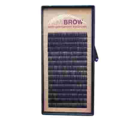 Волоски для бровей искусственные Vivienne Wowbrow 16 линий Черные (0,07*6, J) Черные