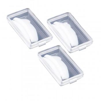 Бигуди силиконовые для завивки ресниц Vivienne Premium белые  M