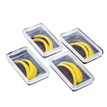 Бигуди силиконовые для завивки ресниц Vivienne Premium желтые LL