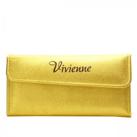 Набор Vivienne Gold Premium на 6 пинцетов с золотым напылением в раскладном пенале с магнитной кнопкой