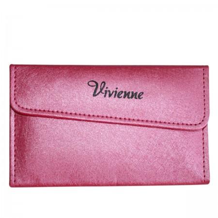 Пенал раскладной Vivienne с магнитной кнопкой на 4 пинцета фуксия