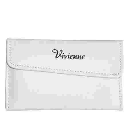Пенал раскладной Vivienne с магнитной кнопкой на 6 пинцетов белый