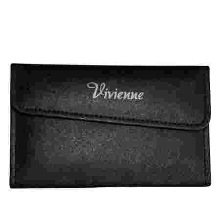 Пенал раскладной Vivienne с магнитной кнопкой на 6 пинцетов черный