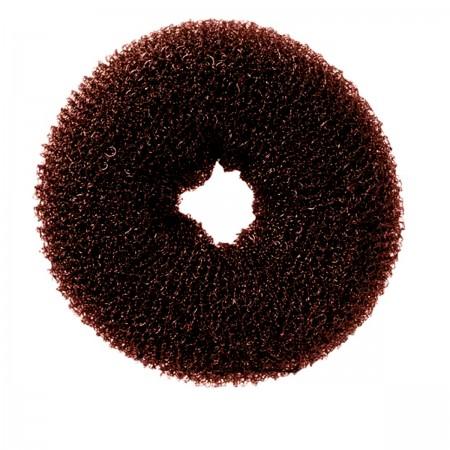 Валик для причесок круглый YRE коричневый 10 см