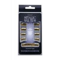 Типсы для экспресс-маникюра Metallic Nail Tips Золото
