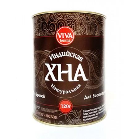 Хна для биотату и бровей Viva Henna коричневая 120 г