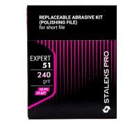 Набор сменных файлов для пилки короткой (шлифовщик) Staleks EXPERT 51 DFE-51-240 240 грит (10 шт)